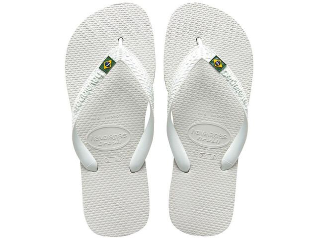 havaianas Brasil Flips Unisex White
